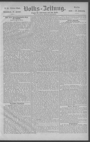 Berliner Volkszeitung vom 18.01.1890