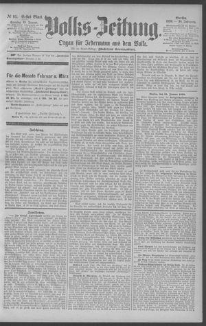 Berliner Volkszeitung vom 19.01.1890
