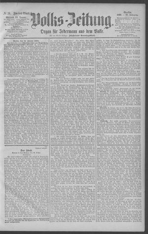 Berliner Volkszeitung vom 22.01.1890