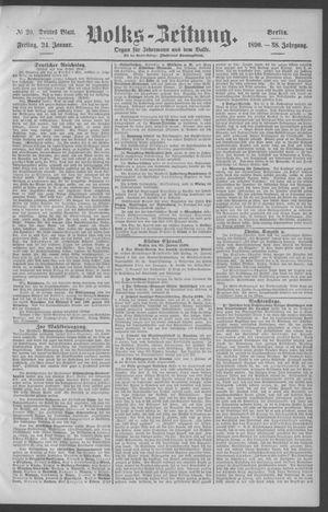 Berliner Volkszeitung vom 24.01.1890