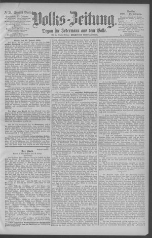 Berliner Volkszeitung vom 25.01.1890