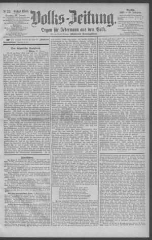 Berliner Volkszeitung vom 26.01.1890