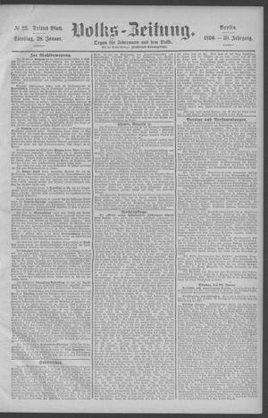 Berliner Volkszeitung vom 28.01.1890