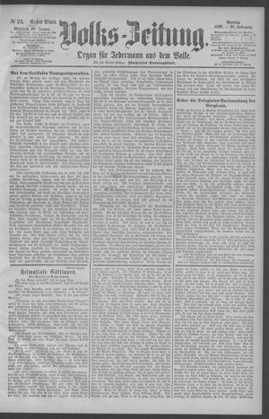 Berliner Volkszeitung vom 29.01.1890