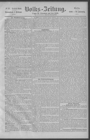 Berliner Volkszeitung vom 01.02.1890