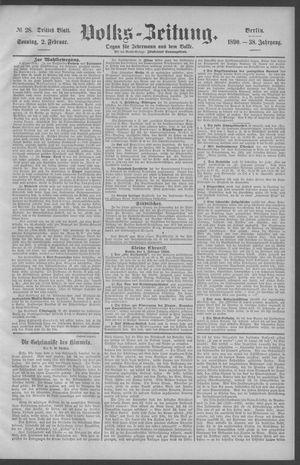 Berliner Volkszeitung vom 02.02.1890