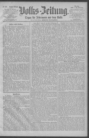 Berliner Volkszeitung vom 04.02.1890