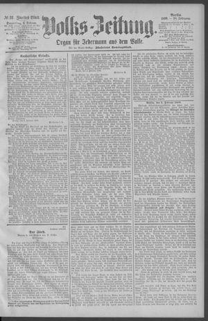 Berliner Volkszeitung vom 06.02.1890