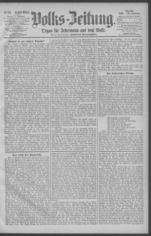 Berliner Volkszeitung vom 07.02.1890