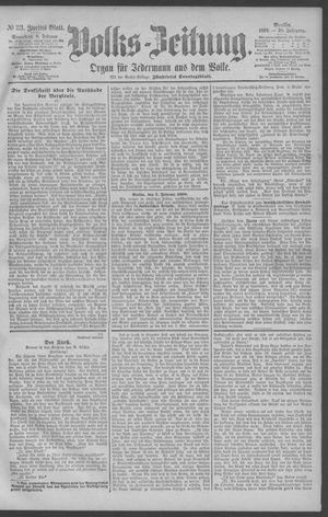 Berliner Volkszeitung vom 08.02.1890