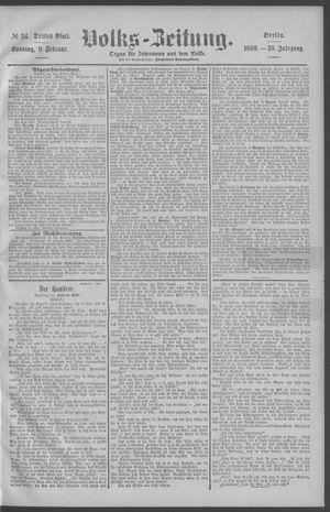 Berliner Volkszeitung vom 09.02.1890