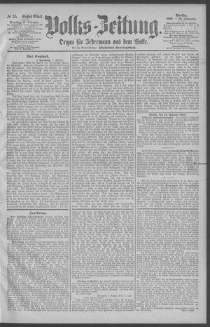 Berliner Volkszeitung vom 11.02.1890