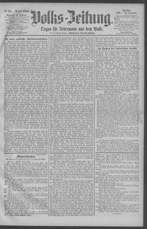 Berliner Volkszeitung vom 12.02.1890