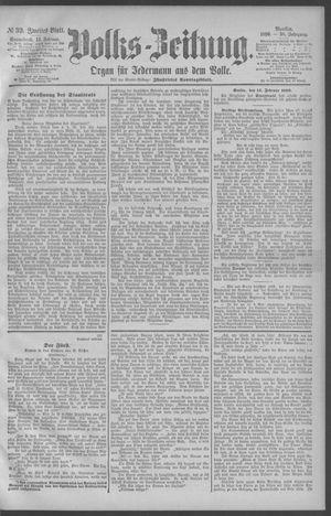 Berliner Volkszeitung vom 15.02.1890