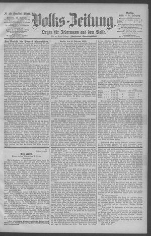 Berliner Volkszeitung vom 16.02.1890