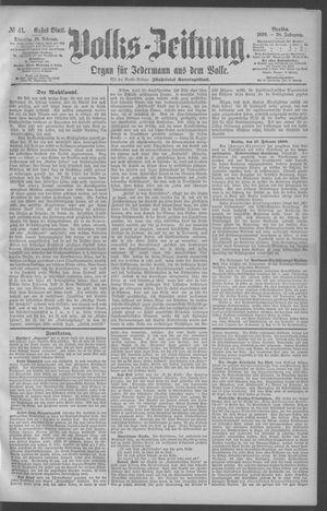 Berliner Volkszeitung vom 18.02.1890