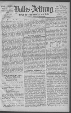 Berliner Volkszeitung vom 20.02.1890