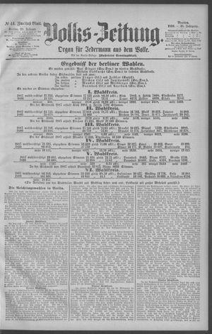 Berliner Volkszeitung vom 21.02.1890