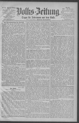 Berliner Volkszeitung vom 22.02.1890