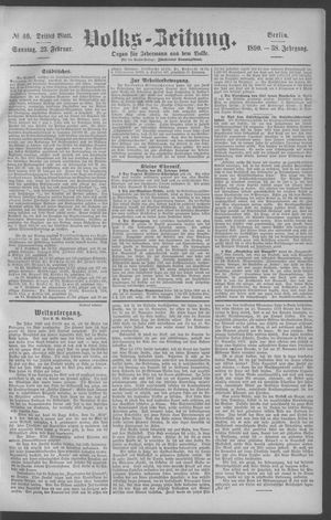 Berliner Volkszeitung vom 23.02.1890