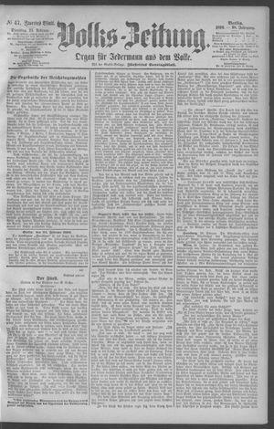 Berliner Volkszeitung vom 25.02.1890