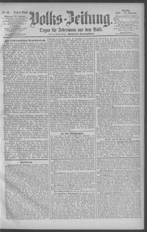 Berliner Volkszeitung vom 26.02.1890