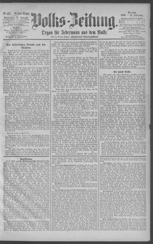 Berliner Volkszeitung vom 27.02.1890