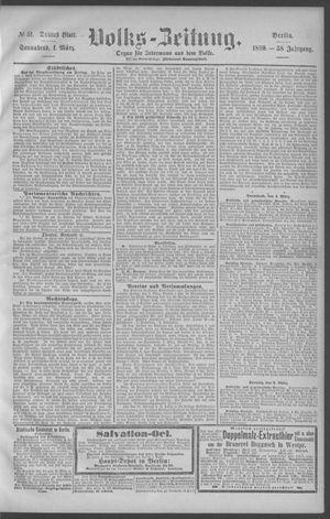 Berliner Volkszeitung vom 01.03.1890