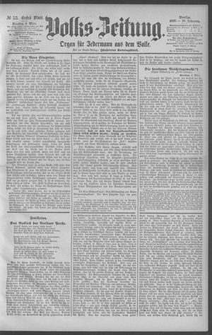 Berliner Volkszeitung vom 04.03.1890