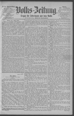 Berliner Volkszeitung vom 05.03.1890