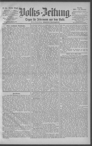 Berliner Volkszeitung vom 06.03.1890