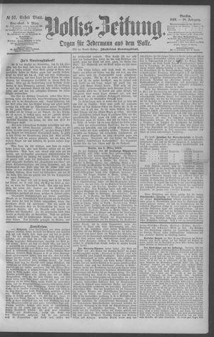 Berliner Volkszeitung vom 08.03.1890