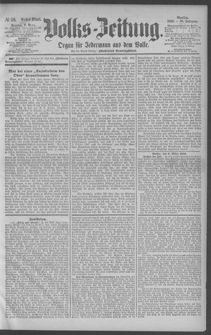 Berliner Volkszeitung vom 09.03.1890