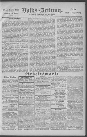 Berliner Volkszeitung vom 11.03.1890