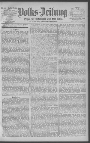 Berliner Volkszeitung vom 16.03.1890