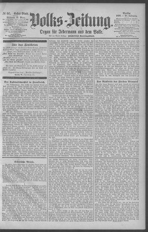 Berliner Volkszeitung vom 19.03.1890