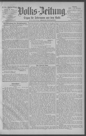 Berliner Volkszeitung vom 21.03.1890