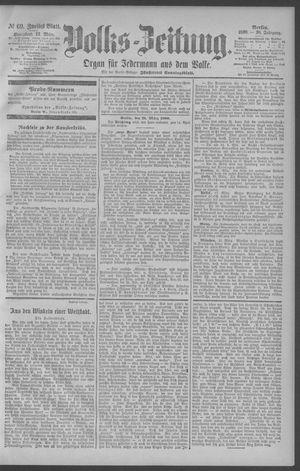 Berliner Volkszeitung vom 22.03.1890
