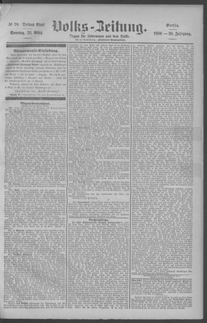 Berliner Volkszeitung vom 23.03.1890
