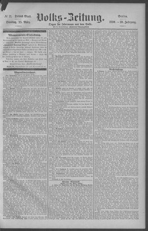Berliner Volkszeitung vom 25.03.1890