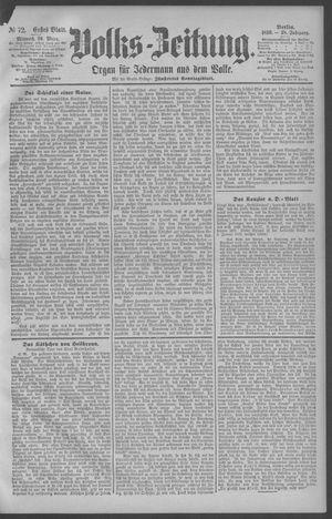 Berliner Volkszeitung vom 26.03.1890