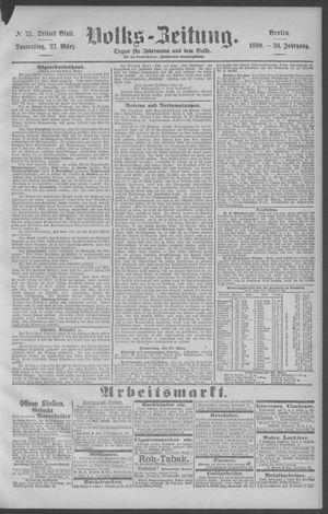 Berliner Volkszeitung vom 27.03.1890