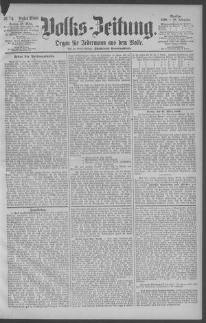 Berliner Volkszeitung vom 28.03.1890