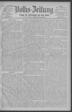 Berliner Volkszeitung vom 01.04.1891