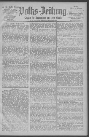 Berliner Volkszeitung vom 02.04.1891
