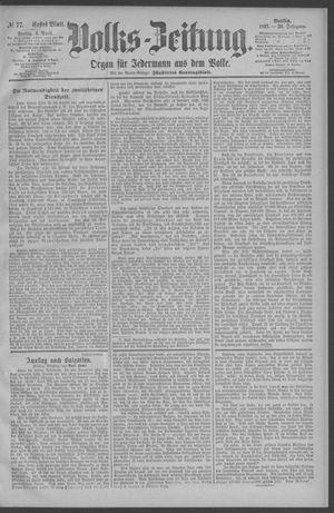 Berliner Volkszeitung vom 03.04.1891