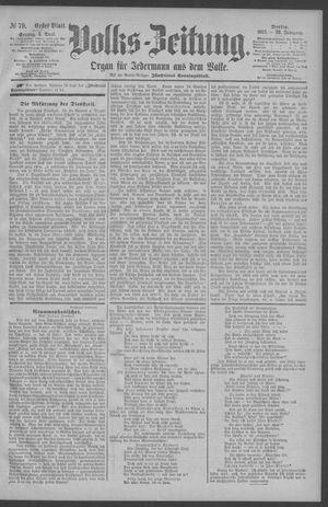 Berliner Volkszeitung vom 05.04.1891