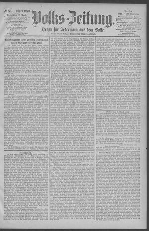 Berliner Volkszeitung vom 09.04.1891