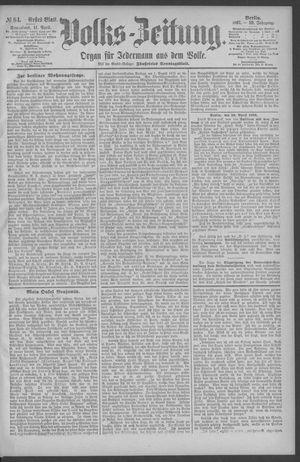 Berliner Volkszeitung vom 11.04.1891