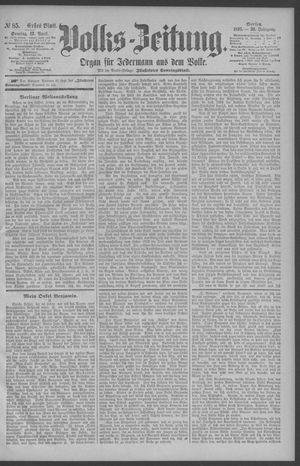 Berliner Volkszeitung vom 12.04.1891